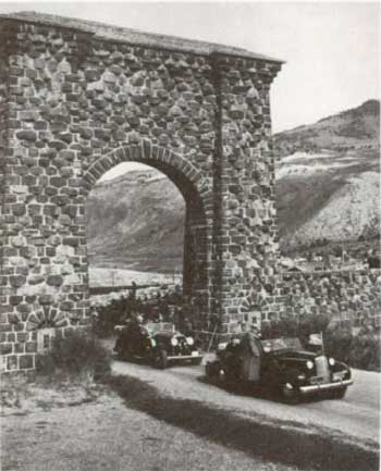The Roosevelt Arch in Yellowstone's Northern Range has long marked the first entrance to the park.